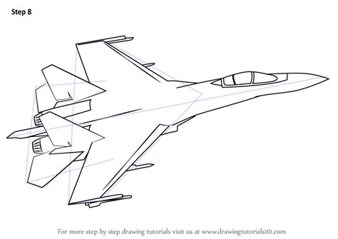 learn   draw sukhoi su  fighter jets step  step