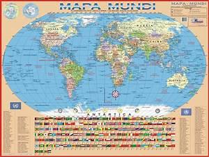 Mapa Mundi Político Mapa Atual para Imprimir, Colorir Online e mais