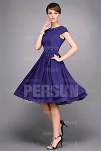 robe habillee mi longue en mousseline a mancherons With robe mi longue habillée