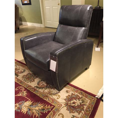 thompson  leg leather recliner  classic leather
