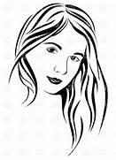 Woman with long hair clipart - ClipartFox  Beautiful Lady Face Clip Art