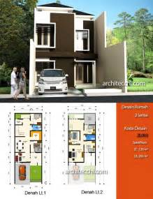 desain rumah minimalis  lantai desain rumah lebar  meter