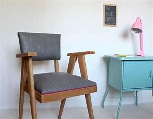 Tapisser Une Chaise : comment tapisser une chaise ancienne amazing au gr de mes trouvailles rnovation de meubles ~ Melissatoandfro.com Idées de Décoration