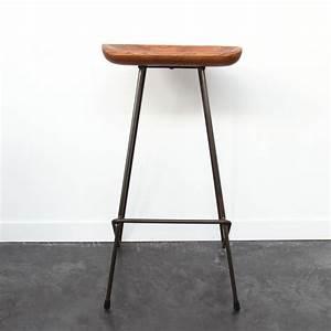 Tabouret Bar Vintage : tabouret bois m tal winton by drawer ~ Preciouscoupons.com Idées de Décoration