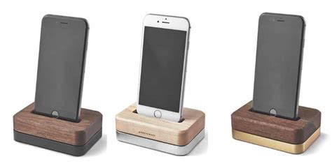 iphone stands grovemade wooden accessories iphone dock stand