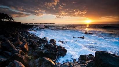 Wallpapers Sunset Hawaii Coast 1366 768 Desktop