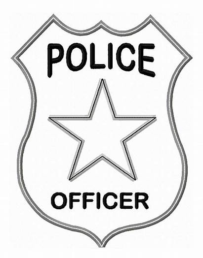 Police Badge Officer Pages Colouring Activities Coloring