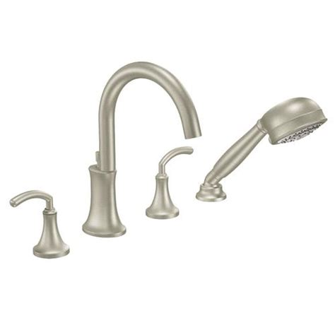 moen icon  handle high arc roman tub faucet includes hand