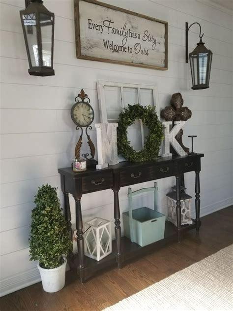 mystery  entry table decor farmhouse entryway