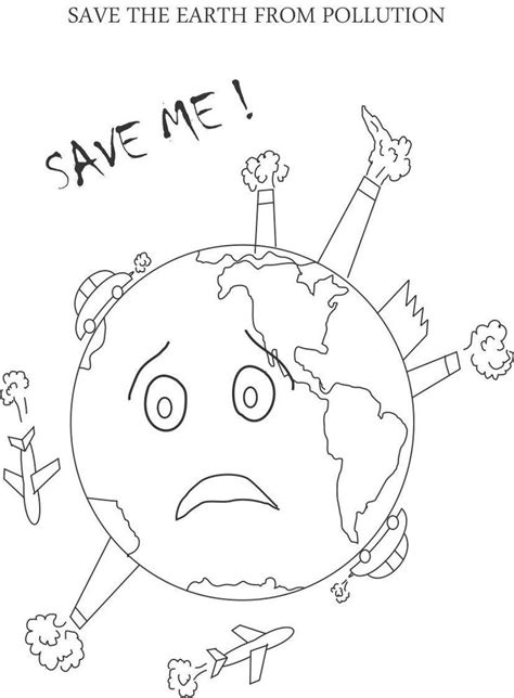 control pollution printable coloring page  kids  images earth coloring pages earth