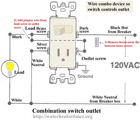 have a leviton 5225 isp combo switch receptacle how to connect to have switch turn receptacle
