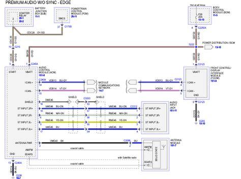 wrg  ford edge sony wiring harness