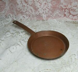 vintage  small copper pan decorative toy  hole  hanging  wall ebay