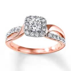 two tone engagement rings engagement ring 3 4 carat tw 14k two tone gold