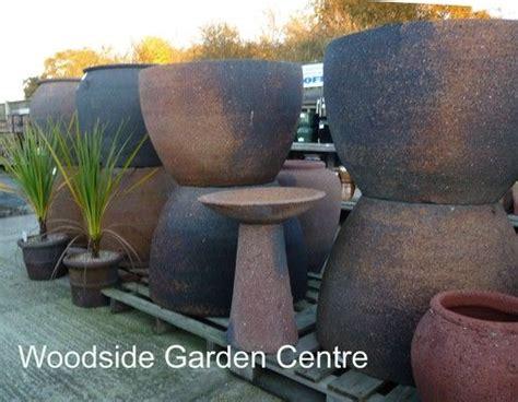 extra large  stone palm tree pot planter woodside