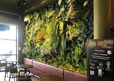 Livingstyle   Amazon Warinchamrap   ต้นไม้ปลอม สวนแนวตั้ง ใบไม้ปลอม