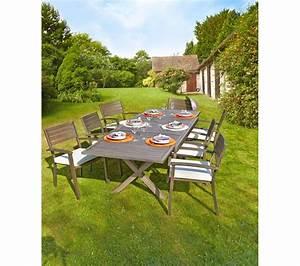 Table De Jardin Extensible Pas Cher : carrefour table de jardin extensible honfleur prix promo ~ Dailycaller-alerts.com Idées de Décoration