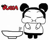 Coloring Pucca Noodle Cartoon Coloringpagesfortoddlers sketch template