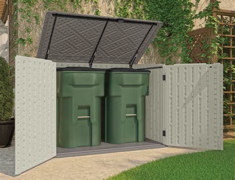home depot pre made sheds garbage can storage shed sears