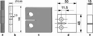 Specimen Configurations For Cyclic Test Experiments  Left  A U2013b