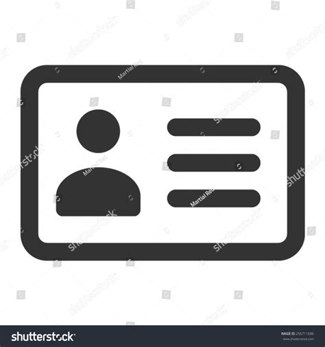 drivers license identification id card  stock vector