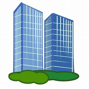 Bulding clipart company building - Pencil and in color ...
