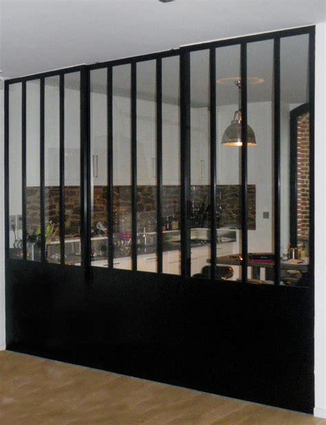 separation de cuisine en verre verrière atelier