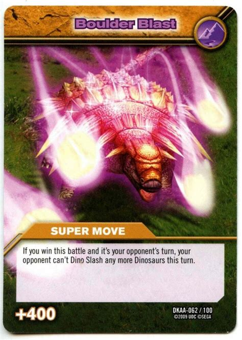 Check spelling or type a new query. Boulder Blast #62 Dinosaur King Alpha Dinosaurs Attack TCG Card (C366) | eBay