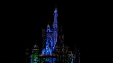 disney world light show disney world magic kingdom castle light show 10 9 13 youtube
