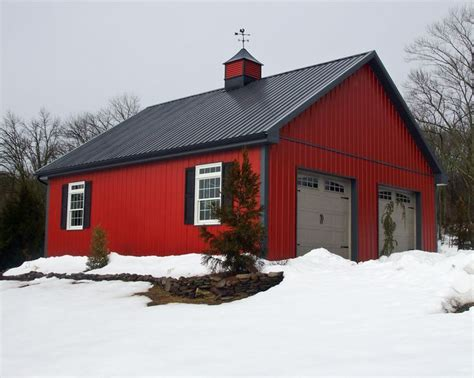 Barn With Black Trim by Can Pole Barns Be Built In The Winter