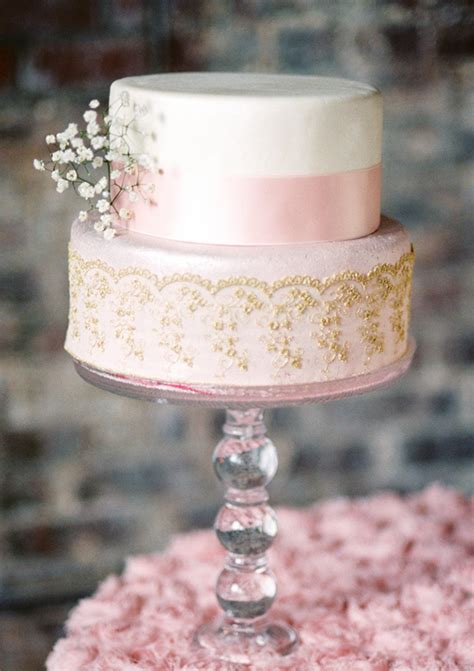 pink and gold wedding ideas 100 layer cake