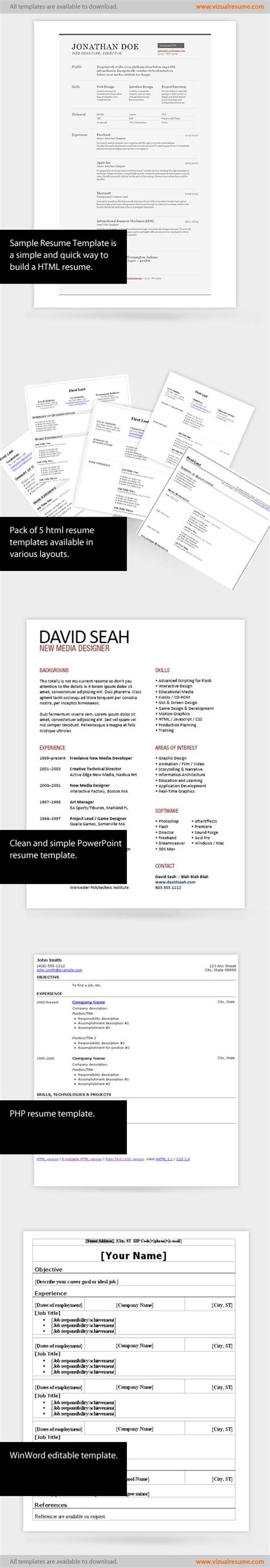 free visual resume templates 42 best ideas about worklife on creative