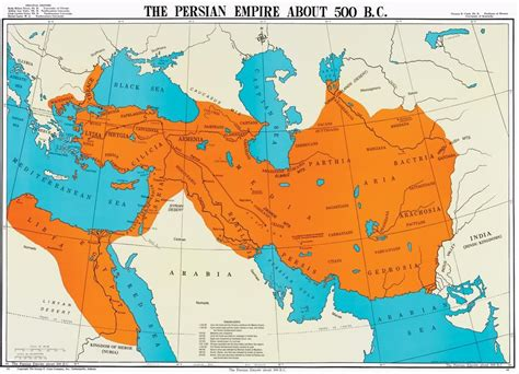 Map Of The First Persian Empire (achaemenid Empire) Around