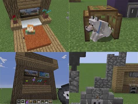 minecraft tips  tricks medieval wall cabinet fancy bed