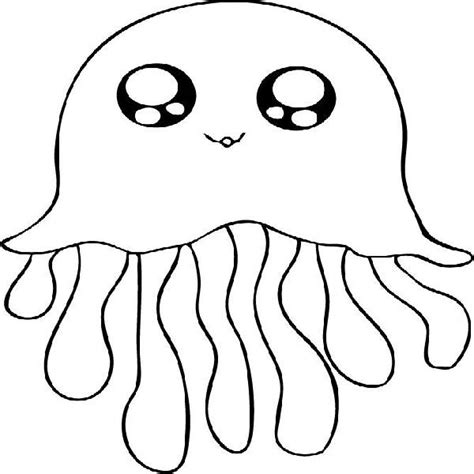 jellyfish coloring page clipart panda  clipart images