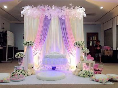 Simple Pelamin Decorations Purple Deco Cukur Ceremony