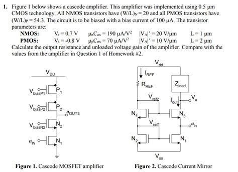 Solved Figure Below Shows Cascode Amplifier This
