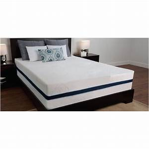 "Sealy 14"" 3 lb Density Memory Foam Bed Mattress with"