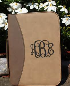 Monogrammed Leather Bible Covers