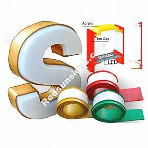rubber channel letter trim cap With channel letter trim cap