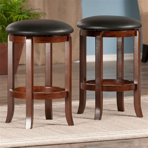 Popular 225 List Walnut Bar Stools Set Of 2
