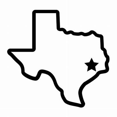 Texas Outline Clipart Houston State Star Center