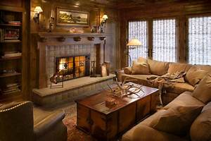 Get, Cozy, -, A, Rustic, Lodge, Style, Living, Room, Makeover