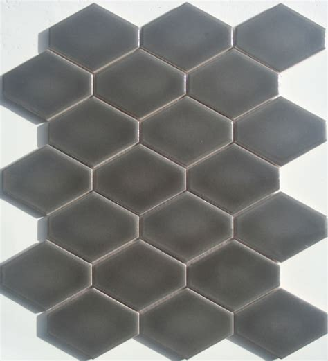 elongated hex tile lyric lounge collection elongated hex tile plane in ferrous gray