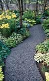 Gardens, Metal edging and Hosta gardens on Pinterest shade garden path ideas