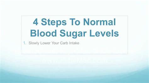 steps  normal blood sugar levels youtube