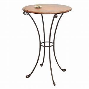 Haute Table De Bar : tabouret de bar industriel en fer forg et palissandre ~ Edinachiropracticcenter.com Idées de Décoration