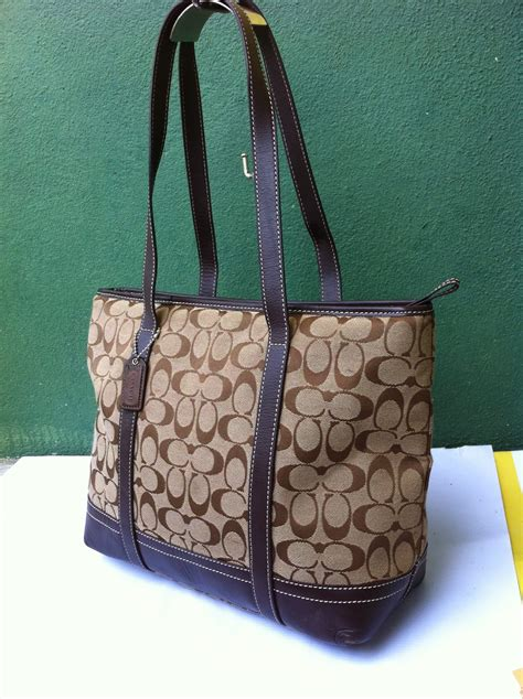 dybundle collection authentic coach tote canvas leather bag sold