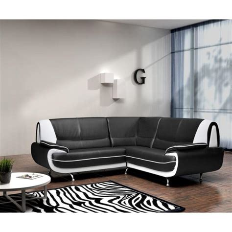 canape noir et blanc cuir photos canapé d 39 angle cuir blanc et noir