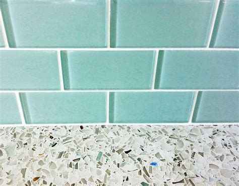 how to lay tile in kitchen aqua subway tile with grey on white counter with more 8728